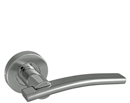 STAINLESS STEEL DOOR HANDLES,POLISHED AND SATIN FINISH - PREMIER DUO,CH022DUO (sold in pairs)
