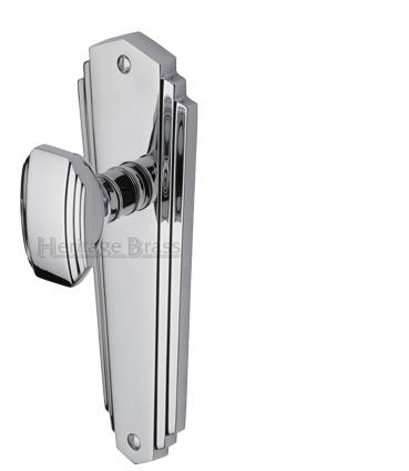 39 waldorf 39 art deco style door handles polished chrome for 1930s brass door handles