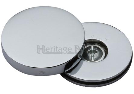 Heritage Brass Decorative Bolt Head Cover Polished Chrome Cov 12