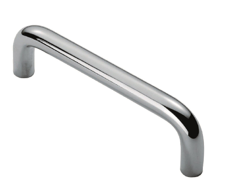 Eurospec Cabinet 'D Pull' Handle (96mm c/c, 128mm c/c OR 160mm c/c), Satin Stainless Steel - CPD
