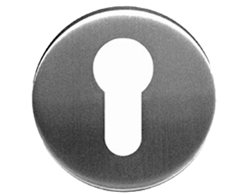Eurospec 'Euro Profile' Stainless Steel Escutcheons, Polished Or Satin Stainless Steel - CSE1005