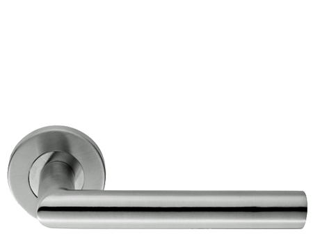 Eurospec Julian Mitred Stainless Steel Door Handles - Polished OR Satin Stainless Steel - CSL1192 (sold in pairs)