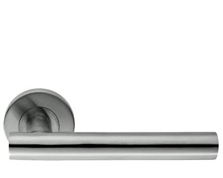 Eurospec Straight Stainless Steel Door Handles - Polished OR Satin Stainless Steel - CSL1194 (sold in pairs)