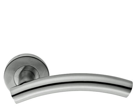 Eurospec Arched Stainless Steel Door Handles - Polished OR Satin Stainless Steel - CSL1193 (sold in pairs)