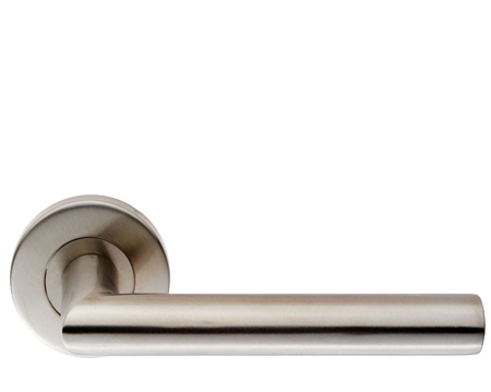 Eurospec Julian Oval Mitred Stainless Steel Door Handles - Satin Stainless Steel - CSL1195 (sold in pairs)