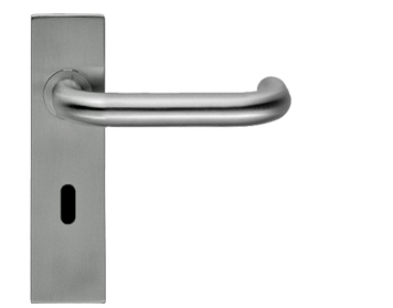 'SQUARE SAFETY LEVERS' POLISHED OR SATIN STAINLESS STEEL DOOR HANDLES - CSLP1190SQ (sold in pairs)