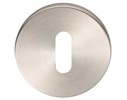 Eurospec Standard Profile Stainless Steel Escutcheons (6mm Rose), Satin Stainless Steel - CSP1006SSS