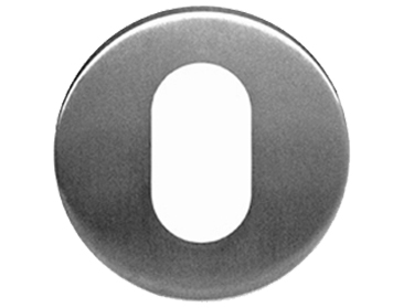 Eurospec 'Oval Profile' Stainless Steel Escutcheons, Satin Finish - CSU1005