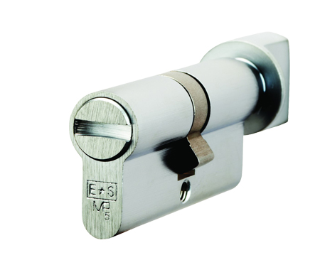 Eurospec MP5 Euro Profile British Standard 5 Pin Bathroom Cylinder & Turn, (70mm) Various Finishes - CYA70470