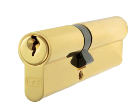 Eurospec MP5 Euro Profile British Standard 5 Pin Double Cylinders, (Various Sizes) Polished Brass - CYA712PB