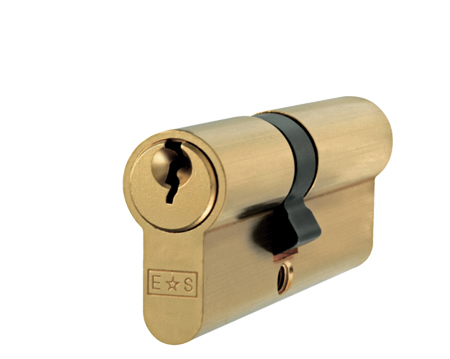 Euro Profile 5 Pin Double Cylinders (Various Sizes), Nickel Plate (Silver Finish) Or Satin Brass - CYE712