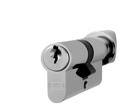 Euro Profile 5 Pin Cylinders And Turns (Various Sizes), Nickel Plate (Silver Finish) Or Satin Brass - CYE713