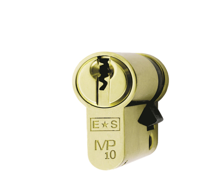 Eurospec MP10 Euro Profile British Standard 10 Pin Single Cylinders, (Various Sizes) Polished Brass - CYH711PB