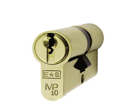 Eurospec MP10 Euro Profile British Standard 10 Pin Double Cylinders, (Various Sizes) Polished Brass - CYH712PB