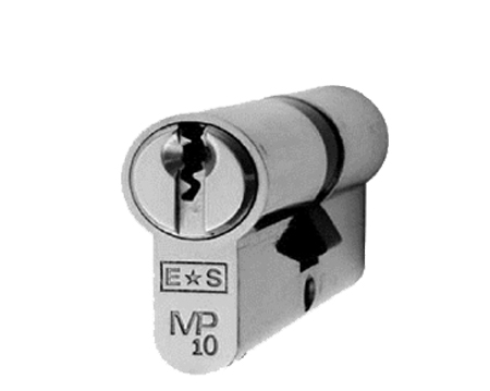 Eurospec MP10 Euro Profile British Standard 10 Pin 'Offset' Double Cylinders, (Various Sizes) Polished Chrome - CYH712PC/OFF