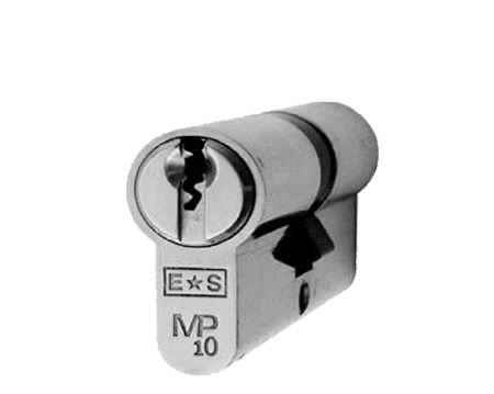 Eurospec MP10 Euro Profile British Standard 10 Pin Double Cylinders, (Various Sizes) Satin Chrome - CYH712SC