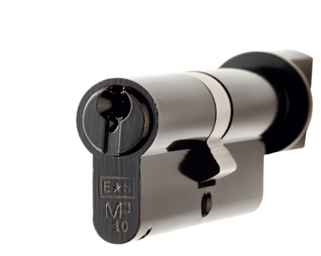 Eurospec MP10 Euro Profile British Standard 10 Pin 'Offset' Cylinders And Turn, (Various Sizes) Black - CYH713OFF