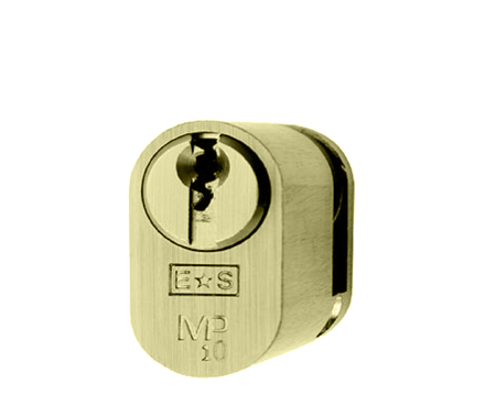 Eurospec MP10 Oval Profile British Standard 10 Pin Single Cylinders, (Various Sizes) Polished Brass - CYH721PB