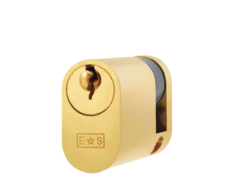 Eurospec MP5 Oval Profile British Standard 5 Pin Single Cylinders, (Various Sizes) Satin Brass - CYE721SB