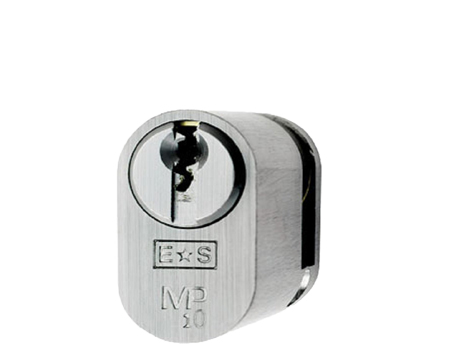 Eurospec MP10 Oval Profile British Standard 10 Pin Single Cylinders, (Various Sizes) Satin Chrome - CYH721SC