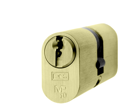 Eurospec MP10 Oval Profile British Standard 10 Pin Double Cylinders, (Various Sizes) Polished Brass - CYH722PB