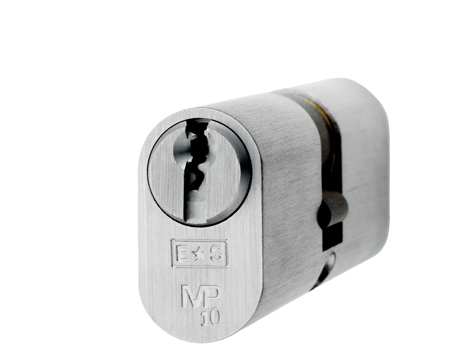 Eurospec MP10 Oval Profile British Standard 10 Pin Double Cylinders, (Various Sizes) Satin Chrome - CYH722SC