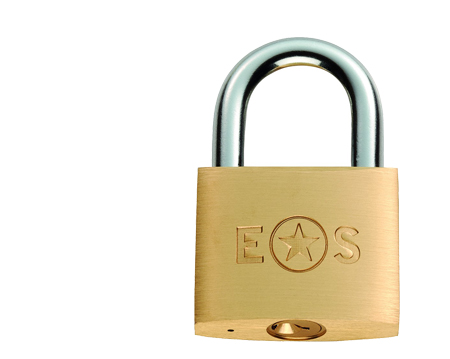 Eurospec Standard Shackle Brass Padlock, Various Sizes 25mm-60mm (Keyed To Differ) - CYPL1025SB/BP