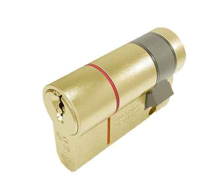 Eurospec MPX6 Euro Profile British Standard 6 Pin Single Cylinders (Various Sizes), Polished Brass - CYX71PB