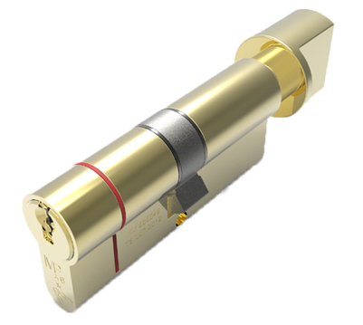 Eurospec MPX6 Euro Profile British Standard 6 Pin Cylinder & Turn (Various Sizes), Polished Brass - CYX713PB