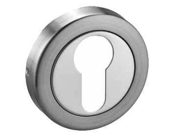 'EURO PROFILE' ESCUTCHEONS, POLISHED & SATIN NICKEL DUAL FINISH - D85