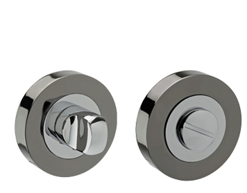 'Dual Finish' Turn & Release, Polished Chrome & Black Nickel - D9010DB