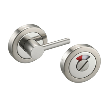 'DISABLED DUAL FINISH' TURN & RELEASE, POLISHED & SATIN STAINLESS STEEL - D97