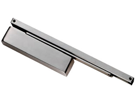 Eurospec Enduromax DDA Compliant Electromagnetic HO/FS Door Closer, Spring Variable Power Size 2-4, SS/Silver - DCCEM3024