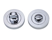 Darcel Bathroom Thumb Turn & Release, Polished Chrome - DCWCTT-PC