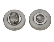 Darcel Bathroom Thumb Turn & Release, Dual Finish Satin Nickel & Polished Chrome - DCWCTT-SNCP