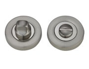 Darcel Bathroom Thumb Turn & Release, Dual Finish Satin Nickel & Polished Nickel - DCWCTT-SNNP