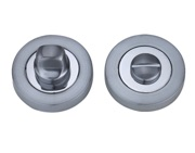 Darcel Bathroom Thumb Turn & Release, Dual Finish Satin Chrome & Polished Chrome - DCWCTT-SPC