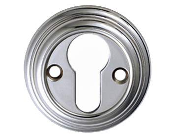 Carlisle Brass Reeded Large Euro Profile Escutcheons, Polished Or Satin Chrome, Brass Or Florentine Bronze - DK1