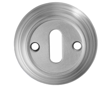 'Reeded' Large Standard Profile Escutcheons, Polished Chrome, Satin Chrome, Brass Or Bronze - DK3