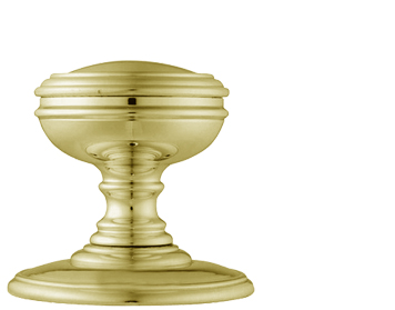 Carlisle Brass Delamain Plain Door Knobs (Concealed Fix), Polished Brass - DK35CPB