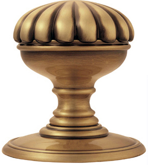 Delamain Flower Door Knobs (Concealed Fix), Florentine Bronze ...