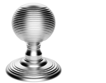 Carlisle Brass Delamain Reeded Door Knobs (Concealed Fix), Polished Chrome - DK37CCP