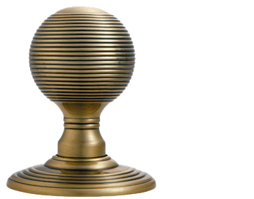 Delamain Reeded Door Knobs (Concealed Fix), Florentine Bronze - DK37CFB