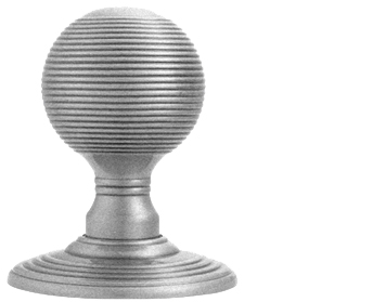 Carlisle Brass Delamain Reeded Door Knobs (Concealed Fix), Satin Chrome - DK37CSC