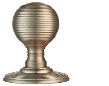 Carlisle Brass Delamain Reeded Door Knobs (Concealed Fix), Satin Nickel - DK37CSN