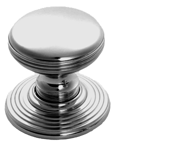 Carlisle Brass Delamain Ringed Door Knobs (Concealed Fix), Polished Chrome - DK39CCP