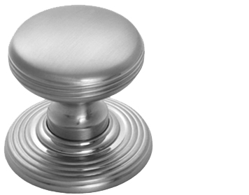 Carlisle Brass Delamain Ringed Door Knobs (Concealed Fix), Satin Chrome - DK39CSC
