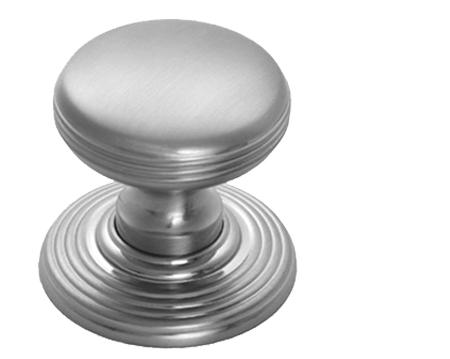 Delamain Ringed Door Knobs (Concealed Fix), Satin Chrome - DK39CSC ...