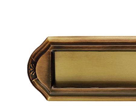 WENTWORTH LETTER PLATES, POLISHED BRASS OR FLORENTINE BRONZE - DL347