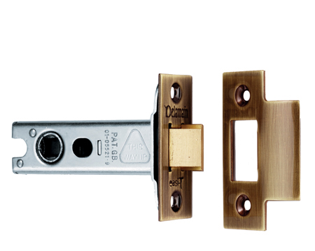 Carlisle Brass Double Sprung 2.5, 3, 4 Or 5 Inch Tubular Latches - Florentine Bronze - DL50FB